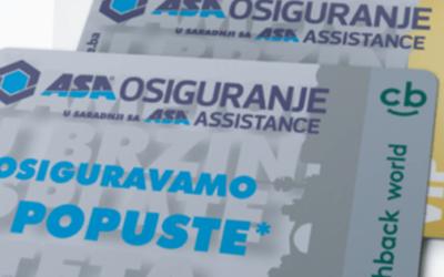 ASA Osiguranje karticu lojalnosti koristite u preko 600 partnerskih kompanija i ostvarujte popuste